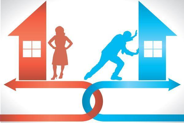 раздел имущества и распределение долга